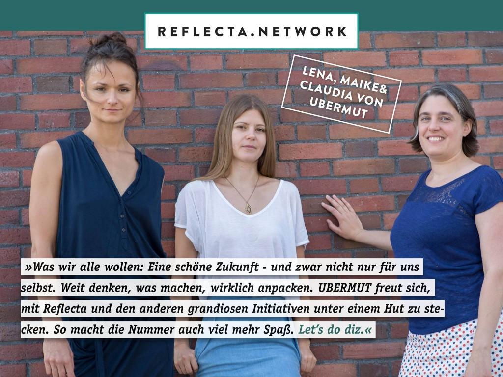 Unser Statement für das neue Netzwerk! Foto: Salome Roessler
