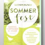 Poster Sommerfest Grüneburgpark