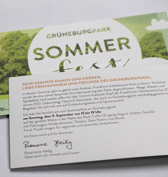 Sommerfest im Grüneburgpark 2017